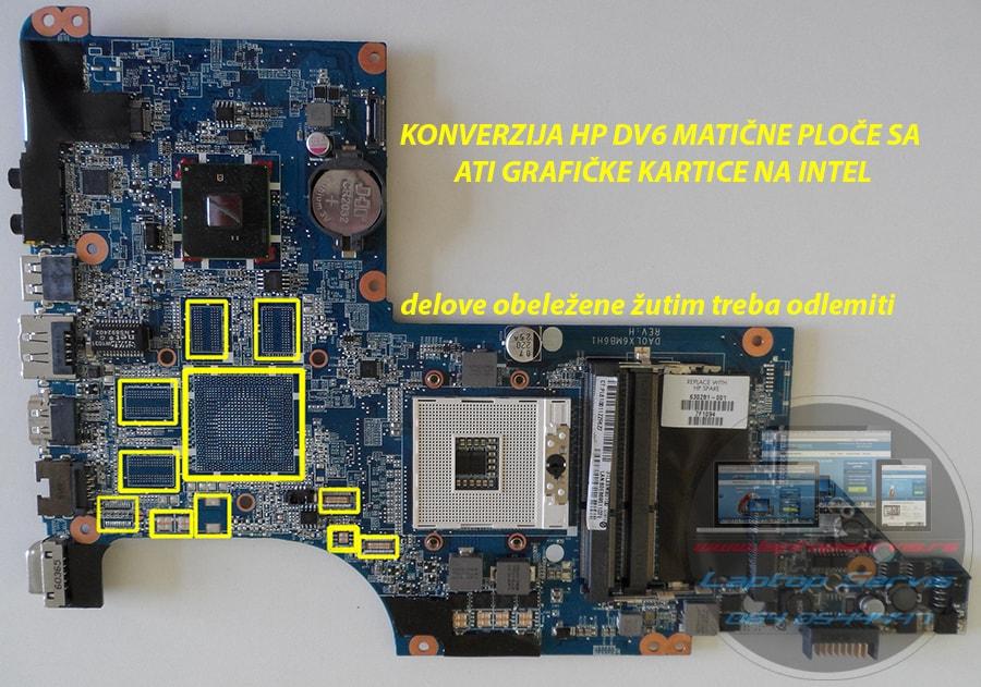 konverzija graficke kartice ati na intel hp pavilion dv6